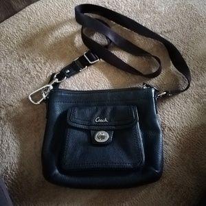 COACH crossbody bag. Black/silver hardware